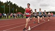 1 June 2019; Tommy Connolly of CBC Cork, Co. Cork, competing in the Senior Boys 1500m  event during the Irish Life Health All-Ireland Schools Track and Field Championships in Tullamore, Co Offaly. Photo by Sam Barnes/Sportsfile