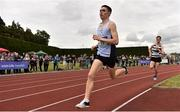 1 June 2019; Darragh McElhinney of Col Pobail, Co. Cork, competing in the Senior Boys 1500m event during the Irish Life Health All-Ireland Schools Track and Field Championships in Tullamore, Co Offaly. Photo by Sam Barnes/Sportsfile