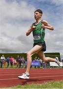 1 June 2019; Callum Morgan of St Malachy's  Belfast, competing in the Inter Boys 3000m event during the Irish Life Health All-Ireland Schools Track and Field Championships in Tullamore, Co Offaly. Photo by Sam Barnes/Sportsfile