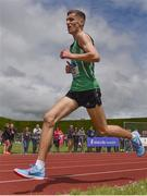 1 June 2019; Fionntan Campell of St Malachy's College, Belfast, competing in the Inter Boys 3000m event during the Irish Life Health All-Ireland Schools Track and Field Championships in Tullamore, Co Offaly. Photo by Sam Barnes/Sportsfile