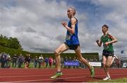 1 June 2019; Dean Casey of St Flannans, Co. Clare, competing in the Inter Boys 3000m event during the Irish Life Health All-Ireland Schools Track and Field Championships in Tullamore, Co Offaly. Photo by Sam Barnes/Sportsfile