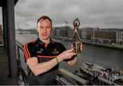 5 June 2019; PwC GAA/GPA Player of the Month for May, Cavan footballer Martin Reilly, at PwC offices in Dublin today to pick up his award. The players were joined by PwC Managing Partner, Feargal O'Rourke, Uachtarán Chumann Lúthcleas Gael, John Horan, and GPA Chief Executive, Paul Flynn. Photo by Eóin Noonan/Sportsfile