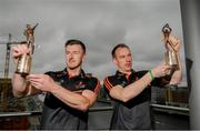 5 June 2019; PwC GAA/GPA Players of the Month for May, Cavan footballer Martin Reilly, right, and Cork hurler, Patrick Horgan, left, were at PwC offices in Dublin today to pick up their respective awards. The players were joined by PwC Managing Partner, Feargal O'Rourke, Uachtarán Chumann Lúthcleas Gael, John Horan, and GPA Chief Executive, Paul Fynn. Photo by Eóin Noonan/Sportsfile