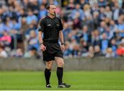 25 May 2019; Referee Jerome Henry during the Leinster GAA Football Senior Championship Quarter-Final match between Louth and Dublin at O'Moore Park in Portlaoise, Laois. Photo by Eóin Noonan/Sportsfile