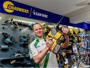 6 June 2019; Tommy Walsh, Tullaroan and Kilkenny, pictured at the announcement that Chadwicks are the new sponsor of the Leinster GAA Chadwicks Club Hurling League were Collette Dormer, Paulstown/Gorebridge and Kilkenny, Tommy Walsh, Tullaroan and Kilkenny and Eamonn Dillon, Naomh Fionnbarra and Dublin at Chadwicks Lucan, Laraghcon, Lucan, Co. Dublin. Chadwicks today launched the Chadwicks Kit-Out competition to celebrate the sponsorship, offering clubs in Leinster the chance to win over €20,000 worth of product to improve their clubhouse facilities. To enter go to chadwicks.ie Photo by Matt Browne/Sportsfile