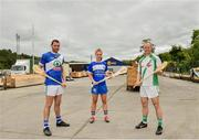 6 June 2019; Collette Dormer, Paulstown/Gorebridge and Kilkenny with Eamonn Dillon, left, Naomh Fionnbarra and Dublin and Tommy Walsh, Tullaroan and Kilkenny, pictured at the announcement that Chadwicks are the new sponsor of the Leinster GAA Chadwicks Club Hurling League were Collette Dormer, Paulstown/Gorebridge and Kilkenny, Tommy Walsh, Tullaroan and Kilkenny and Eamonn Dillon, Naomh Fionnbarra and Dublin at Chadwicks Lucan, Laraghcon, Lucan, Co. Dublin. Chadwicks today launched the Chadwicks Kit-Out competition to celebrate the sponsorship, offering clubs in Leinster the chance to win over €20,000 worth of product to improve their clubhouse facilities. To enter go to chadwicks.ie Photo by Matt Browne/Sportsfile