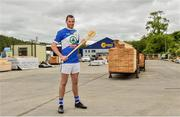 6 June 2019; Eamonn Dillon, Naomh Fionnbarra and Dublin, pictured at the announcement that Chadwicks are the new sponsor of the Leinster GAA Chadwicks Club Hurling League were Collette Dormer, Paulstown/Gorebridge and Kilkenny, Tommy Walsh, Tullaroan and Kilkenny and Eamonn Dillon, Naomh Fionnbarra and Dublin at Chadwicks Lucan, Laraghcon, Lucan, Co. Dublin. Chadwicks today launched the Chadwicks Kit-Out competition to celebrate the sponsorship, offering clubs in Leinster the chance to win over €20,000 worth of product to improve their clubhouse facilities. To enter go to chadwicks.ie Photo by Matt Browne/Sportsfile