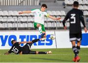 6 June 2019; Jayson Molumby captain of Ireland in actiOn against Jose Joaquin Esquivel of Mexico during the 2019 Maurice Revello Toulon Tournament match between Mexico and Republic of Ireland at Parsemain in Fos-sur-Mer, France. Photo by Alexandre Dimou/Sportsfile