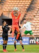 6 June 2019; Jose Santiago Hernandez of Mexico in action against Aaron Connolly of Ireland during the 2019 Maurice Revello Toulon Tournament match between Mexico and Republic of Ireland at Parsemain in Fos-sur-Mer, France. Photo by Alexandre Dimou