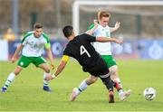 6 June 2019; Connor Ronan of Ireland in action against Jesus Alberto Angulo of Mexico during the 2019 Maurice Revello Toulon Tournament match between Mexico and Republic of Ireland at Parsemain in Fos-sur-Mer, France. Photo by Alexandre Dimou