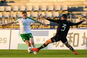 6 June 2019; Connor Ronan of Ireland in action against Ismael Govea of Mexico during the 2019 Maurice Revello Toulon Tournament match between Mexico and Republic of Ireland at Parsemain in Fos-sur-Mer, France. Photo by Alexandre Dimou