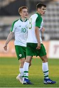 6 June 2019; Jayson Molumby and Connor Ronan of Ireland during the 2019 Maurice Revello Toulon Tournament match between Mexico and Republic of Ireland at Parsemain in Fos-sur-Mer, France. Photo by Alexandre Dimou/Sportsfile