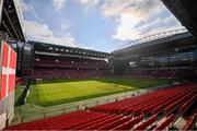 7 June 2019; A general view of Telia Parken prior to the UEFA EURO2020 Qualifier Group D match between Denmark and Republic of Ireland at Telia Parken in Copenhagen, Denmark. Photo by Stephen McCarthy/Sportsfile