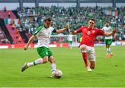 7 June 2019; Seamus Coleman of Republic of Ireland in action against Andreas Christensen of Denmark during the UEFA EURO2020 Qualifier Group D match between Denmark and Republic of Ireland at Telia Parken in Copenhagen, Denmark. Photo by Seb Daly/Sportsfile