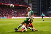 7 June 2019; James McClean of Republic of Ireland in action against Henrik Dalsgaard of Denmark during the UEFA EURO2020 Qualifier Group D match between Denmark and Republic of Ireland at Telia Parken in Copenhagen, Denmark. Photo by Stephen McCarthy/Sportsfile