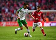 7 June 2019; Jeff Hendrick of Republic of Ireland in action against Lasse Schöne of Denmark during the UEFA EURO2020 Qualifier Group D match between Denmark and Republic of Ireland at Telia Parken in Copenhagen, Denmark. Photo by Seb Daly/Sportsfile