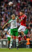 7 June 2019; James McClean of Republic of Ireland in action against Henrik Dalsgaard of Denmark during the UEFA EURO2020 Qualifier Group D match between Denmark and Republic of Ireland at Telia Parken in Copenhagen, Denmark. Photo by Seb Daly/Sportsfile