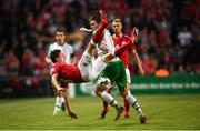 7 June 2019; Jeff Hendrick of Republic of Ireland in action against Thomas Delaney of Denmark during the UEFA EURO2020 Qualifier Group D match between Denmark and Republic of Ireland at Telia Parken in Copenhagen, Denmark. Photo by Stephen McCarthy/Sportsfile