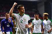 7 June 2019; Seamus Coleman of Republic of Ireland celebrates following the UEFA EURO2020 Qualifier Group D match between Denmark and Republic of Ireland at Telia Parken in Copenhagen, Denmark. Photo by Stephen McCarthy/Sportsfile