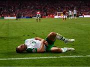 7 June 2019; Alan Judge of Republic of Ireland after picking up an injury during the UEFA EURO2020 Qualifier Group D match between Denmark and Republic of Ireland at Telia Parken in Copenhagen, Denmark. Photo by Stephen McCarthy/Sportsfile