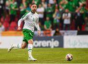 7 June 2019; Richard Keogh of Republic of Ireland during the UEFA EURO2020 Qualifier Group D match between Denmark and Republic of Ireland at Telia Parken in Copenhagen, Denmark. Photo by Stephen McCarthy/Sportsfile