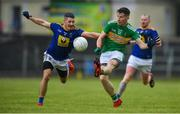 8 June 2019; Shane Quinn of Leitrim in action against Conor Reynolds of Leitrim during the GAA Football All-Ireland Senior Championship Round 1 match between  Leitrim and Wicklow at Avantcard Páirc Seán Mac Diarmada in Carrick-on-Shannon, Leitrim. Photo by David Fitzgerald/Sportsfile
