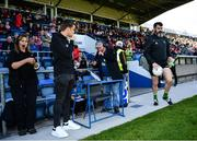 8 June 2019; Republic of Ireland captain Seamus Coleman watches as Donegal substitute goalkeeper Paul Durcan runs onto the pitch for the Ulster GAA Football Senior Championship semi-final match between Donegal and Tyrone at Kingspan Breffni Park in Cavan. Photo by Ramsey Cardy/Sportsfile