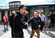 8 June 2019; Republic of Ireland captain Seamus Coleman arrives for the Ulster GAA Football Senior Championship semi-final match between Donegal and Tyrone at Kingspan Breffni Park in Cavan. Photo by Ramsey Cardy/Sportsfile