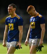 8 June 2019; Cathal McGee, left, and Chris O'Brien of Wicklow following the GAA Football All-Ireland Senior Championship Round 1 match between Leitrim and Wicklow at Avantcard Páirc Seán Mac Diarmada in Carrick-on-Shannon, Leitrim. Photo by David Fitzgerald/Sportsfile