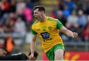 8 June 2019; Jamie Brennan of Donegal celebrates after scoring his side's first goal during the Ulster GAA Football Senior Championship semi-final match between Donegal and Tyrone at Kingspan Breffni Park in Cavan. Photo by Daire Brennan/Sportsfile