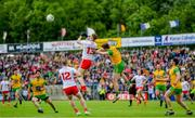 8 June 2019; Cathal McShane of Tyrone in action against Eoghan Bán Gallagher of Donegal during the Ulster GAA Football Senior Championship semi-final match between Donegal and Tyrone at Kingspan Breffni Park in Cavan. Photo by Ramsey Cardy/Sportsfile