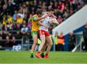 8 June 2019; Colm Cavanagh of Tyrone in action against Michael Murphy of Donegal during the Ulster GAA Football Senior Championship semi-final match between Donegal and Tyrone at Kingspan Breffni Park in Cavan. Photo by Daire Brennan/Sportsfile