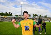 8 June 2019; Ryan McHugh of Donegal celebrates following the Ulster GAA Football Senior Championship semi-final match between Donegal and Tyrone at Kingspan Breffni Park in Cavan. Photo by Ramsey Cardy/Sportsfile