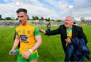 8 June 2019; Patrick McBrearty of Donegal is congratulated by a Donegal supporter following the Ulster GAA Football Senior Championship semi-final match between Donegal and Tyrone at Kingspan Breffni Park in Cavan. Photo by Ramsey Cardy/Sportsfile