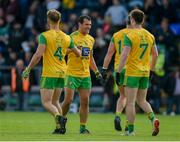 8 June 2019; Stephen McMenamin, left, and Frank McGlynn of Donegal celebrate after the Ulster GAA Football Senior Championship semi-final match between Donegal and Tyrone at Kingspan Breffni Park in Cavan. Photo by Daire Brennan/Sportsfile