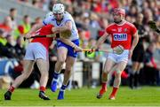 8 June 2019; Shane Bennett of Waterford in action against Seán O'Donoghue, left, and Daniel Kearney of Cork during the Munster GAA Hurling Senior Championship Round 4 match between Cork and Waterford at Páirc Uí Chaoimh in Cork. Photo by Piaras Ó Mídheach/Sportsfile