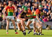 8 June 2019; Conor McDonald of Wexford in action against David English of Carlow during the Leinster GAA Hurling Senior Championship Round 4 match between Wexford and Carlow at Innovate Wexford Park in Wexford. Photo by Matt Browne/Sportsfile