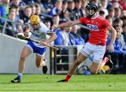 8 June 2019; Jack Prendergast of Waterford in action against Mark Ellis of Cork during the Munster GAA Hurling Senior Championship Round 4 match between Cork and Waterford at Páirc Uí Chaoimh in Cork. Photo by Piaras Ó Mídheach/Sportsfile