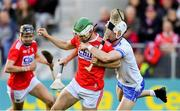 8 June 2019; Shane Kingston of Cork is tackled by Shane McNulty of Waterford during the Munster GAA Hurling Senior Championship Round 4 match between Cork and Waterford at Páirc Uí Chaoimh in Cork. Photo by Piaras Ó Mídheach/Sportsfile