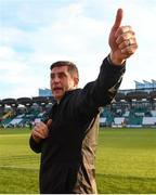 8 June 2019; Derry City manager Declan Devine following the SSE Airtricity League Premier Division match between Shamrock Rovers and Derry City at Tallaght Stadium in Dublin. Photo by Stephen McCarthy/Sportsfile