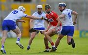 8 June 2019; Darragh Fitzgibbon of Cork in action against Shane Bennett, left, and Stephen Bennett of Waterford during the Munster GAA Hurling Senior Championship Round 4 match between Cork and Waterford at Páirc Uí Chaoimh in Cork. Photo by Piaras Ó Mídheach/Sportsfile