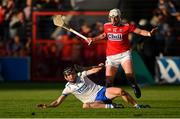 8 June 2019; Calum Lyons of Waterford in action against Patrick Horgan of Cork during the Munster GAA Hurling Senior Championship Round 4 match between Cork and Waterford at Páirc Uí Chaoimh in Cork. Photo by Piaras Ó Mídheach/Sportsfile