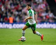 7 June 2019; Robbie Brady of Republic of Ireland during the UEFA EURO2020 Qualifier Group D match between Denmark and Republic of Ireland at Telia Parken in Copenhagen, Denmark. Photo by Seb Daly/Sportsfile