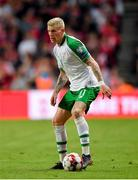 7 June 2019; James McClean of Republic of Ireland during the UEFA EURO2020 Qualifier Group D match between Denmark and Republic of Ireland at Telia Parken in Copenhagen, Denmark. Photo by Seb Daly/Sportsfile