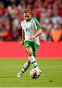 7 June 2019; Alan Judge of Republic of Ireland during the UEFA EURO2020 Qualifier Group D match between Denmark and Republic of Ireland at Telia Parken in Copenhagen, Denmark. Photo by Seb Daly/Sportsfile
