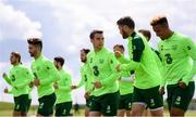 9 June 2019; Seamus Coleman, centre, during a Republic of Ireland training session at the FAI National Training Centre in Abbotstown, Dublin. Photo by Stephen McCarthy/Sportsfile