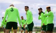 9 June 2019; Seamus Coleman and James McClean, left, during a Republic of Ireland training session at the FAI National Training Centre in Abbotstown, Dublin. Photo by Stephen McCarthy/Sportsfile