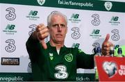 9 June 2019; Republic of Ireland manager Mick McCarthy during a press conference at the FAI National Training Centre in Abbotstown, Dublin. Photo by Stephen McCarthy/Sportsfile