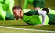 9 June 2019; Richard Keogh during a Republic of Ireland training session at the FAI National Training Centre in Abbotstown, Dublin. Photo by Stephen McCarthy/Sportsfile