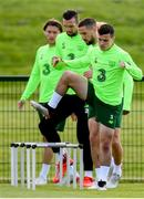 9 June 2019; Josh Cullen during a Republic of Ireland training session at the FAI National Training Centre in Abbotstown, Dublin. Photo by Stephen McCarthy/Sportsfile